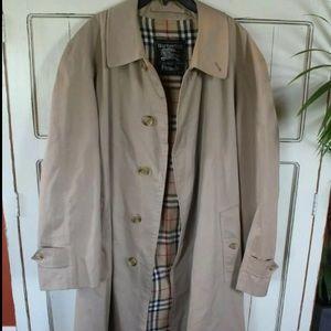 Vintage Burberry nova check lined trench coat men